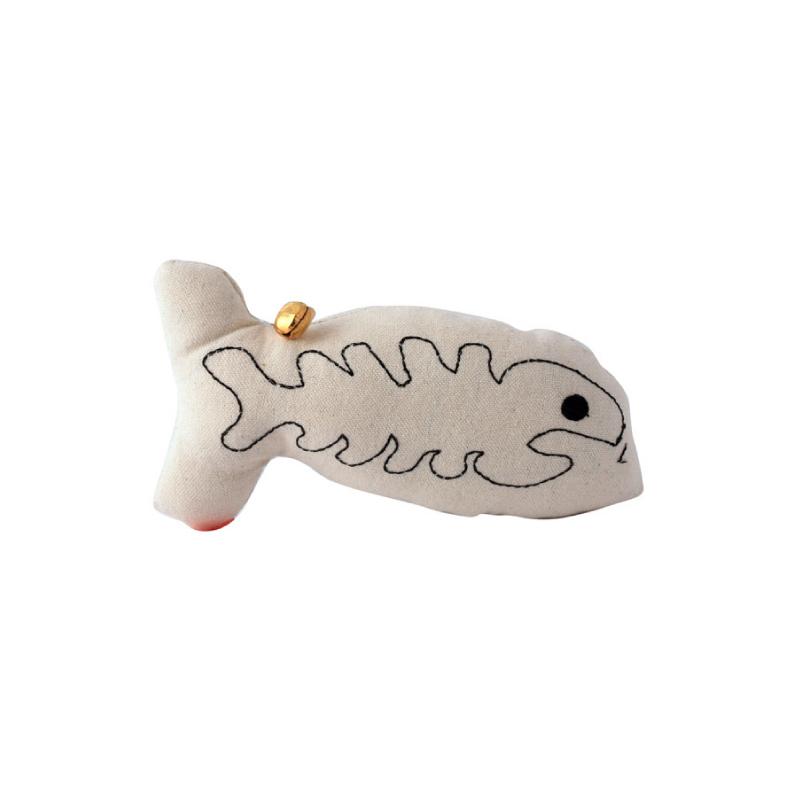 AT-2917印象派魚骨玩具-白色