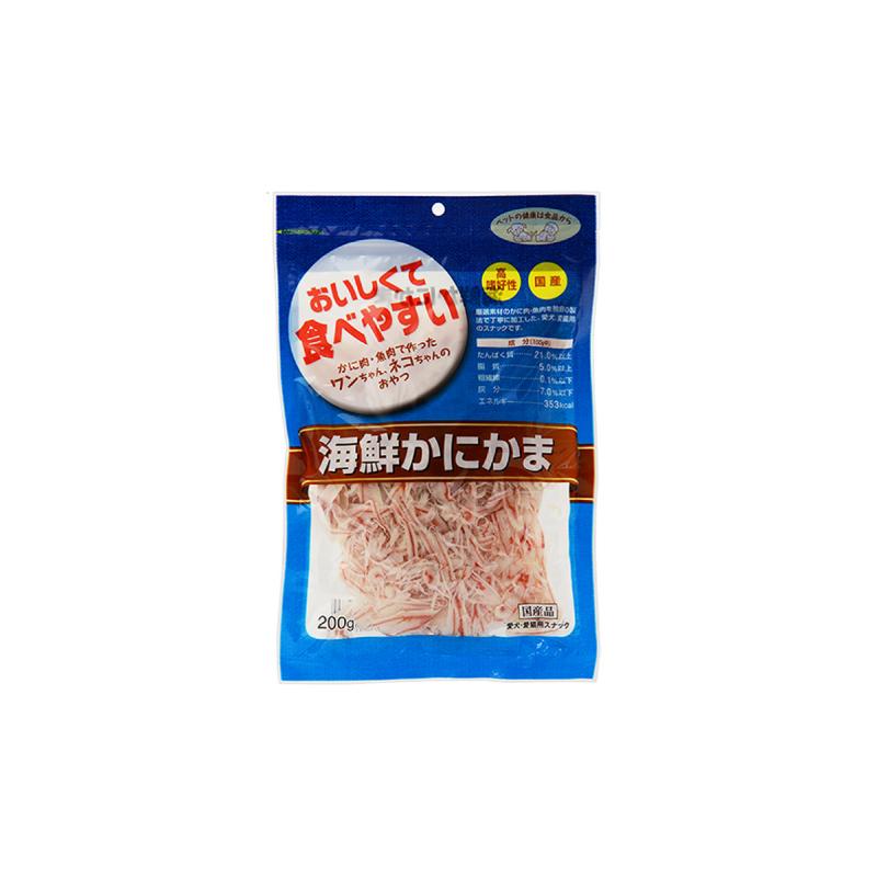 蟹肉棒薄片貓狗小食60g