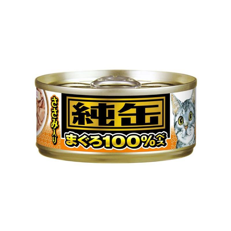 吞拿魚及三文魚貓罐頭(橙) 65G