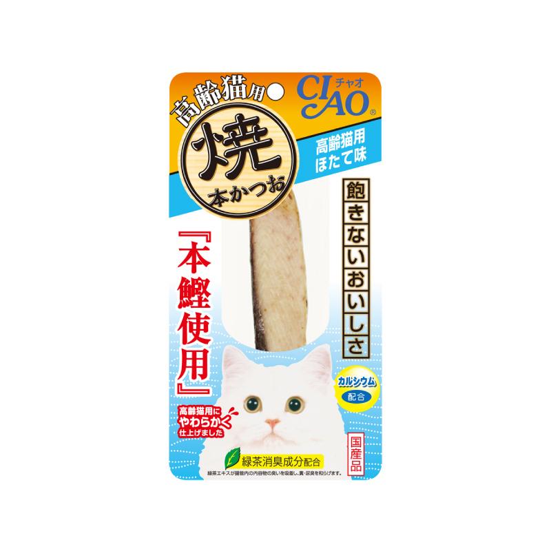 CIAO燒鰹魚條-元貝風味25g(高齡)