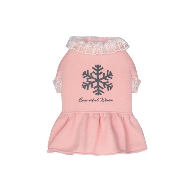粉紅色加厚衛衣裙L碼