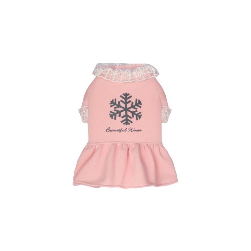 粉紅色加厚衛衣裙M碼