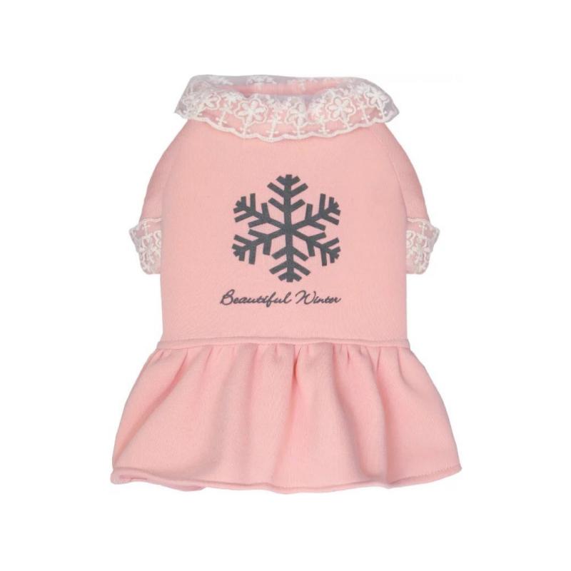 粉紅色加厚衛衣裙XL碼