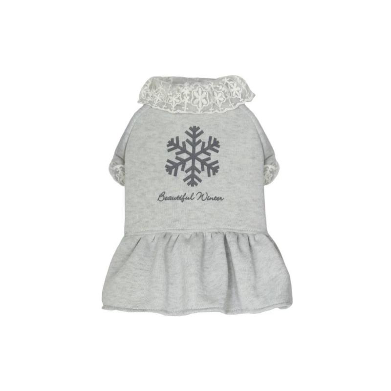 灰色加厚衛衣裙L碼