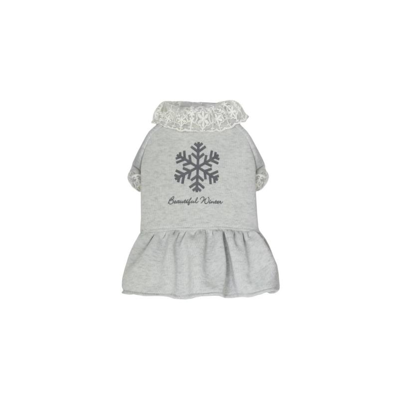 灰色加厚衛衣裙M碼