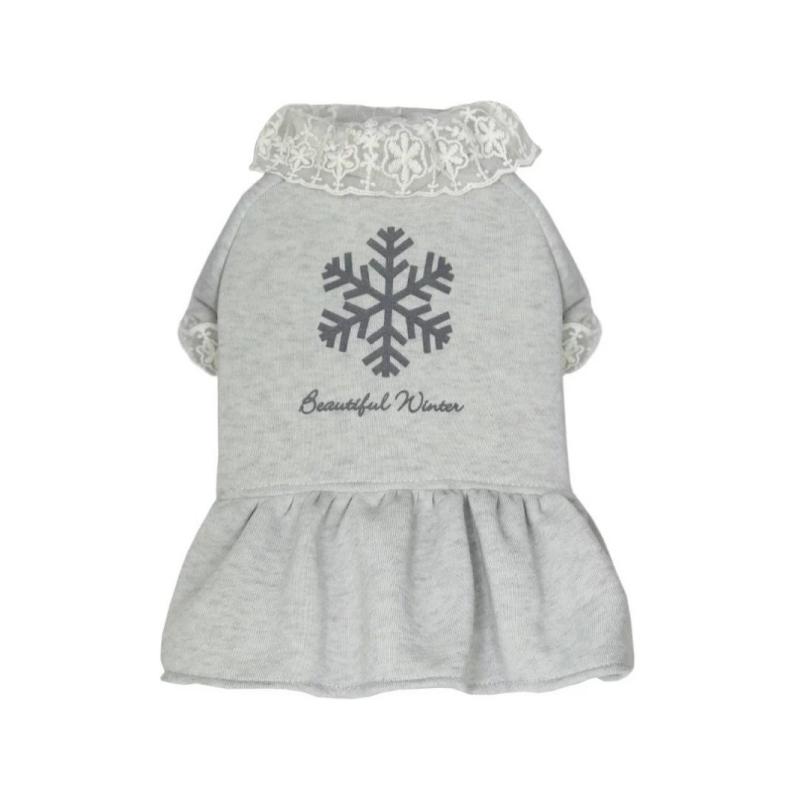 灰色加厚衛衣裙XL碼