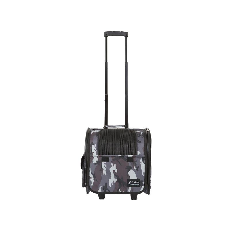 灰迷彩寵物袋連拉桿 34x28x36cm