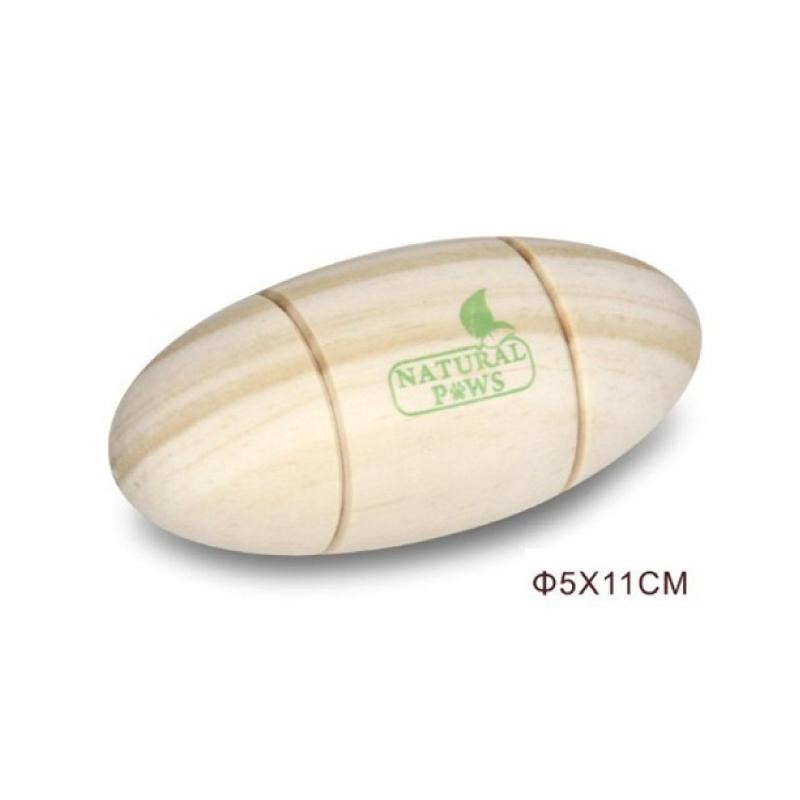 木製橄欖球狗玩具5×11cm
