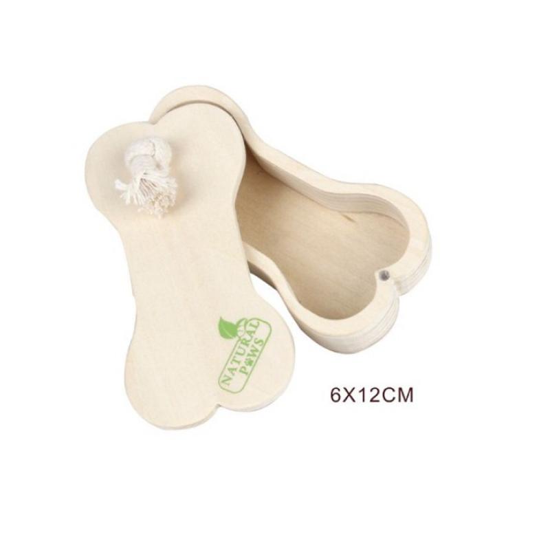 木製花生狗玩具6×12cm