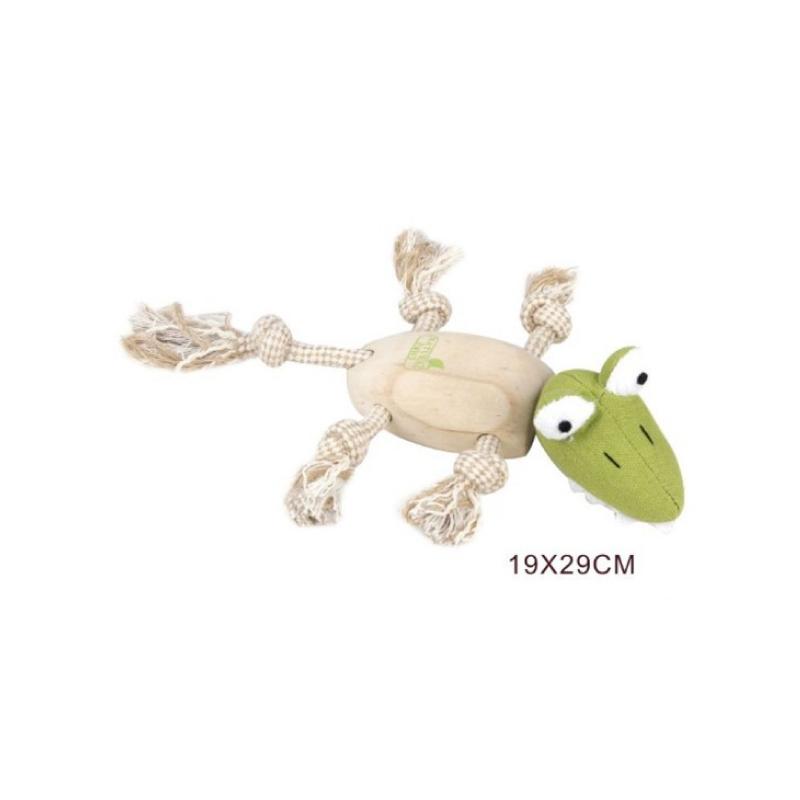 木製鱷魚仔狗玩具19×29cm