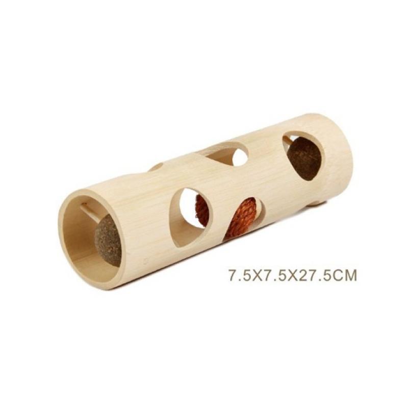木製貓玩具7.5x7.5x27.5cm