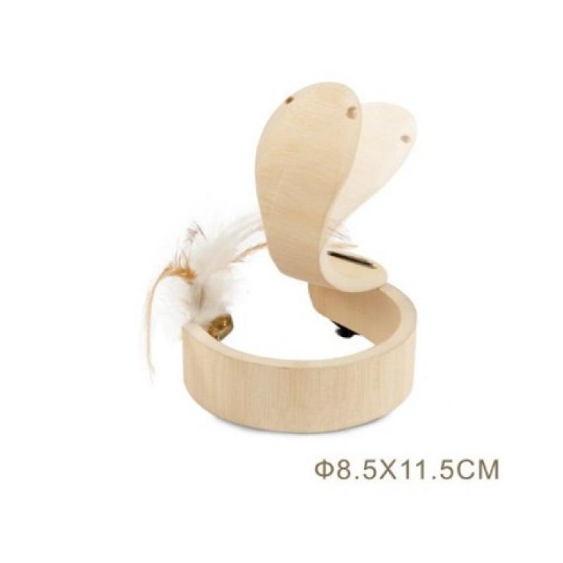 木製貓玩具8.5x11.5cm