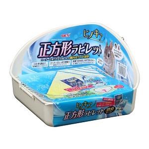 正方形兔子廁所24x24x16cm白