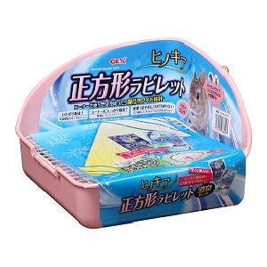 正方形兔子廁所24x24x16cm粉