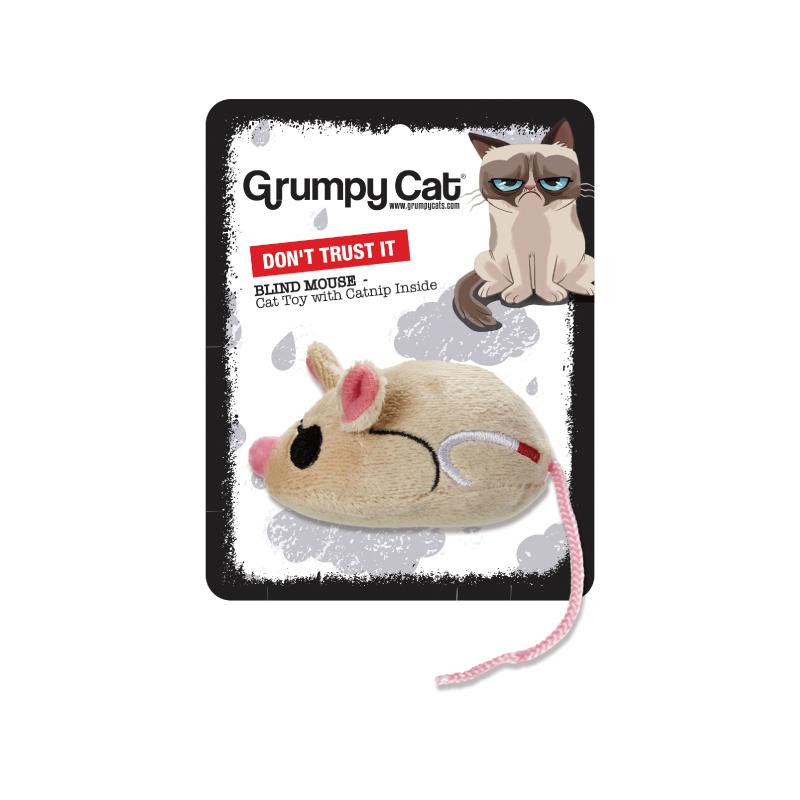 瞎眼老鼠貓玩具8CM