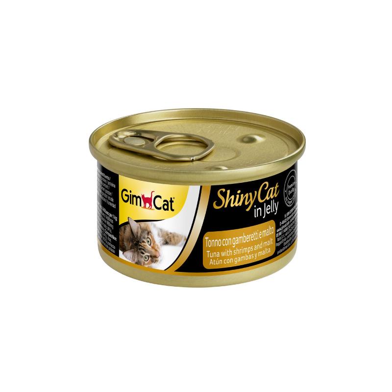 天然吞拿魚蝦肉麥芽貓罐頭 70G