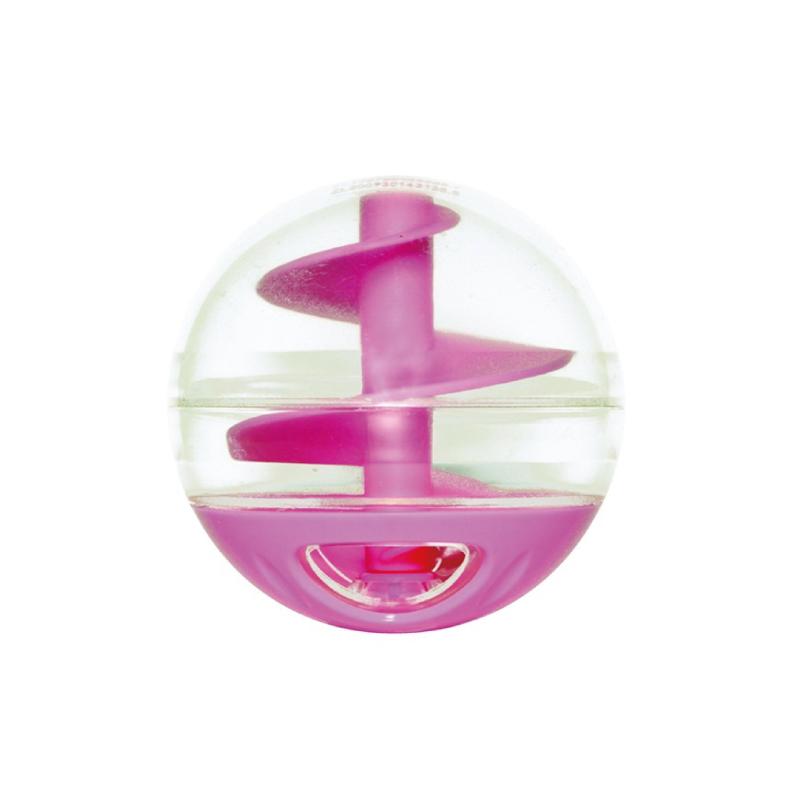 旋轉滑梯漏食玩具球-粉紅色