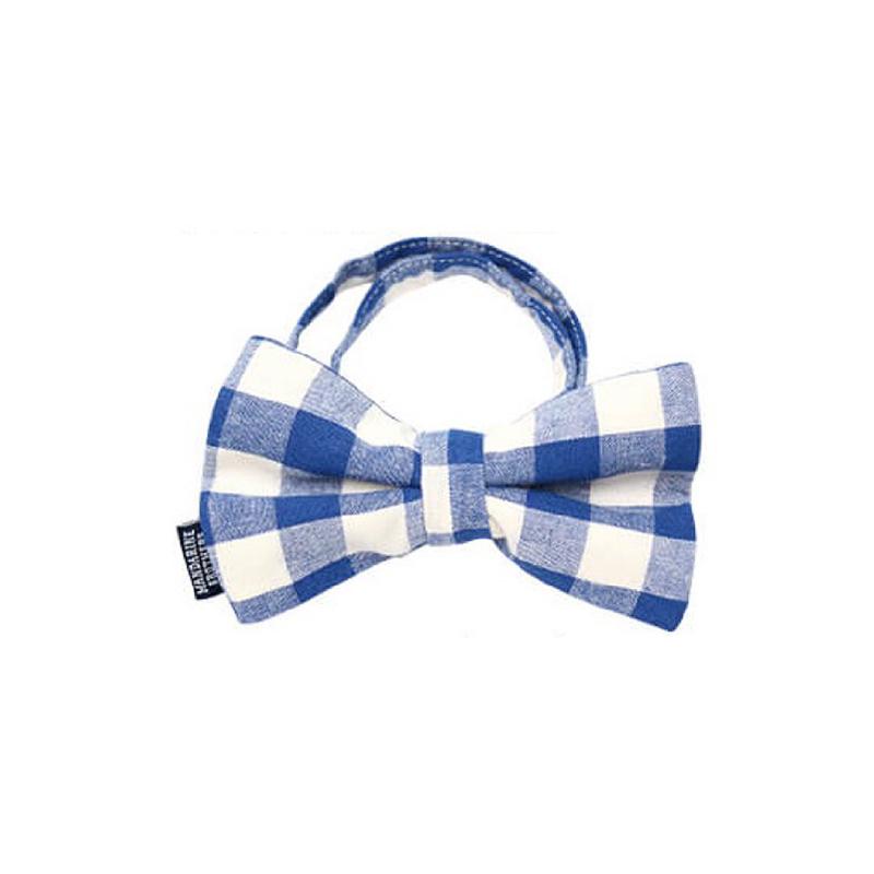 時尚領結 (藍格)頸圍約23-36cm