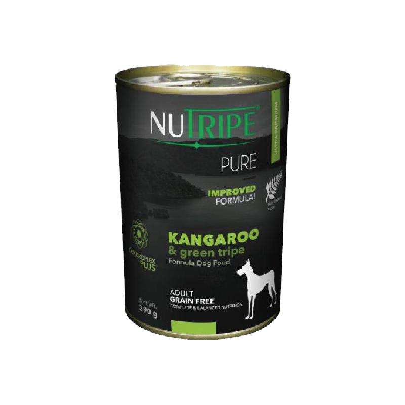 無穀袋鼠肉綠鹿肚成犬罐頭390g