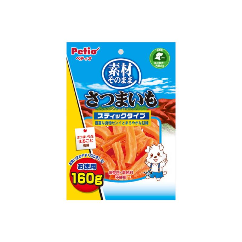 *Petio原味高纖甘薯條狗小食160g
