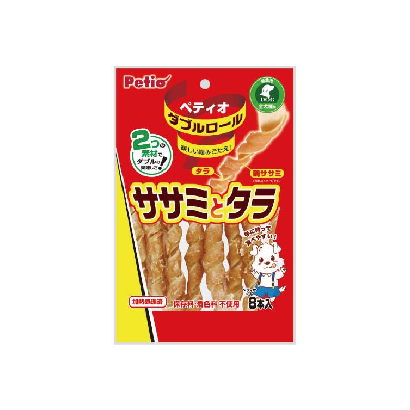 狗小食雙重口味卷雞胸肉鱈魚8條裝
