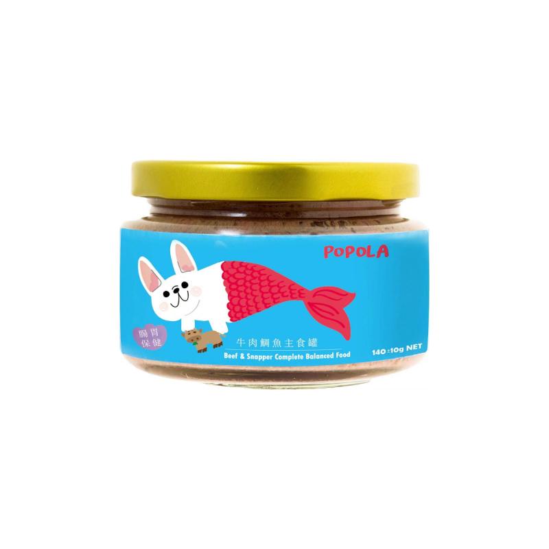 狗狗腸胃保健牛肉鯛魚主食罐140g