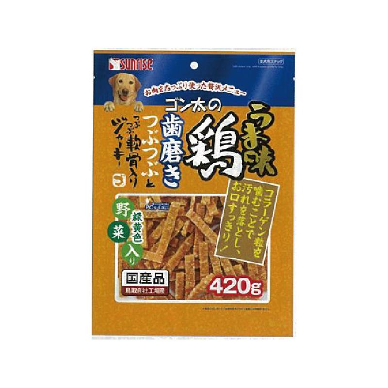犬用軟骨蔬菜雞肉條420g