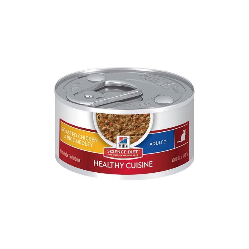 高齡貓雞肉及米貓罐頭 2.8OZ