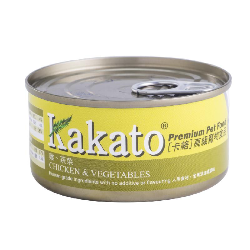 雞肉蔬菜貓狗罐頭 170G