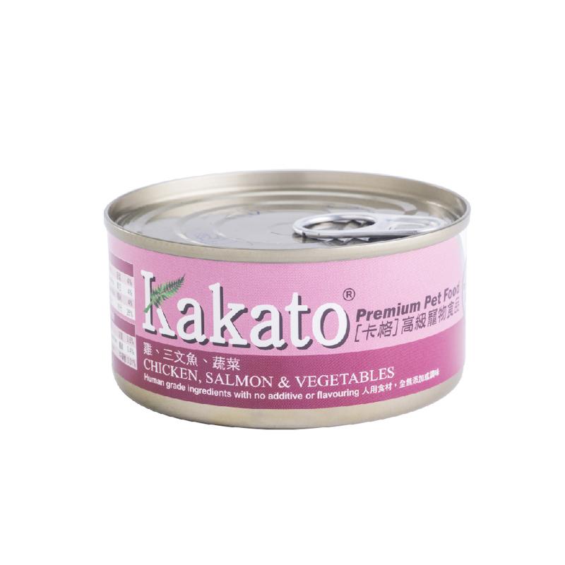雞肉三文魚蔬菜貓狗罐頭 170G