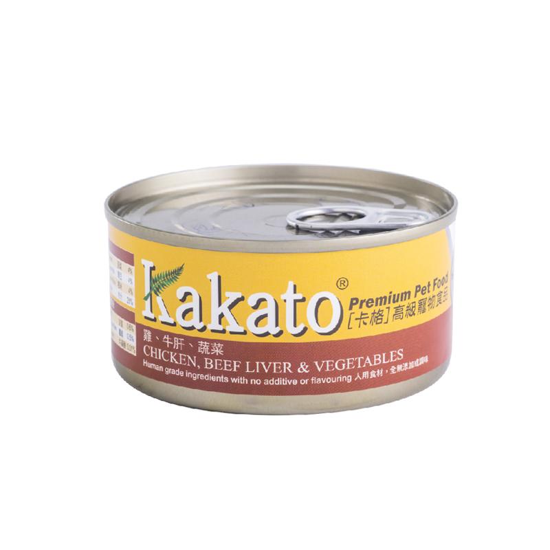 雞肉牛肝蔬菜貓狗罐頭 170G